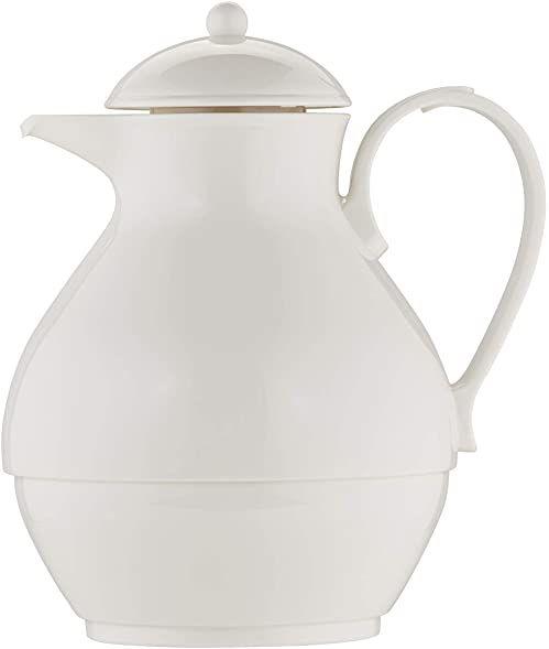Helios Nostalgiczny dzbanek izolacyjny z tworzywa sztucznego, biały, 1 litr