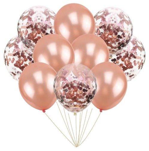 Zestaw balonów różowe złoto 30cm 10 sztuk 400121