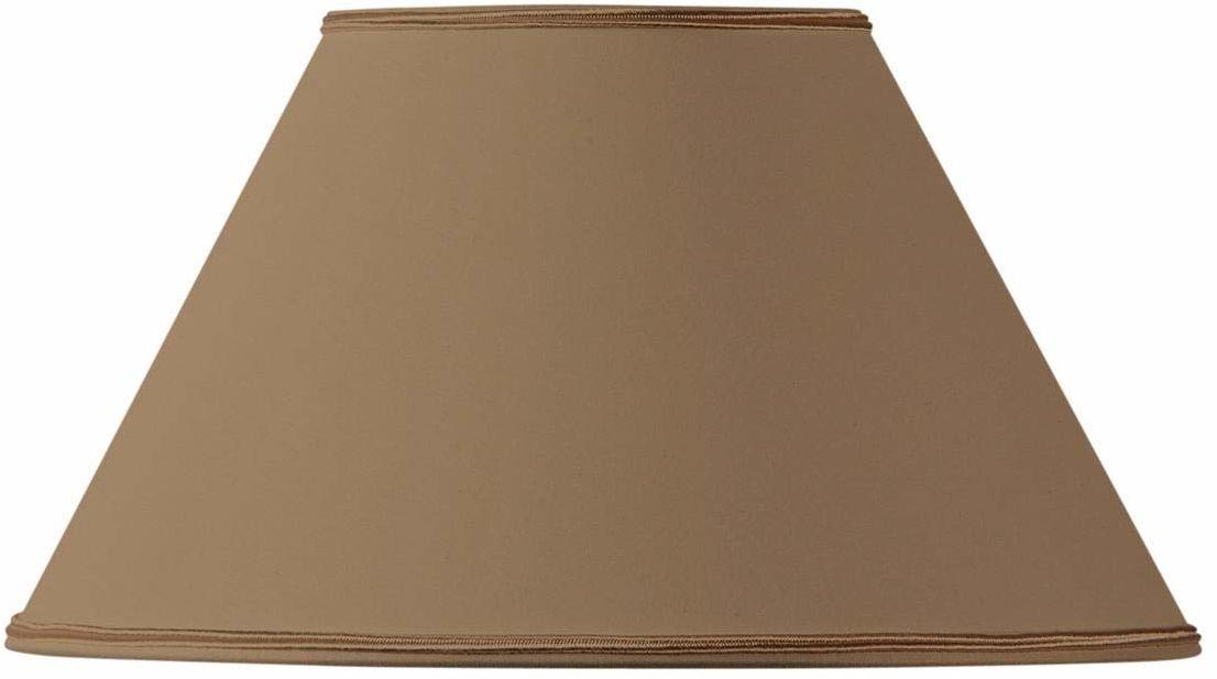Klosz lampy w kształcie wiktoriańskim, 20 x 09 x 12 cm, taupe