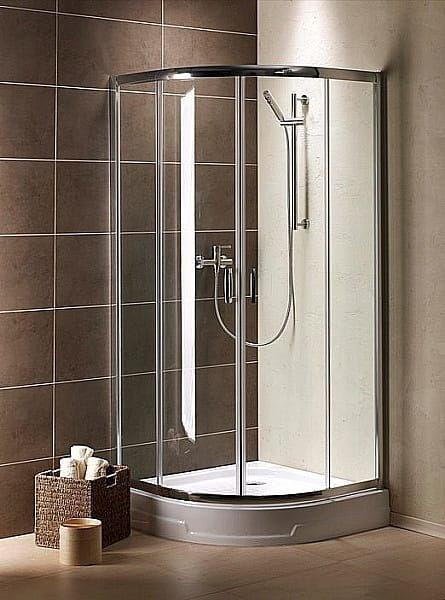 Kabina prysznicowa półokrągła Radaway Premium Plus A 80 szkło przejrzyste wys. 190 cm. 30413-01-01N