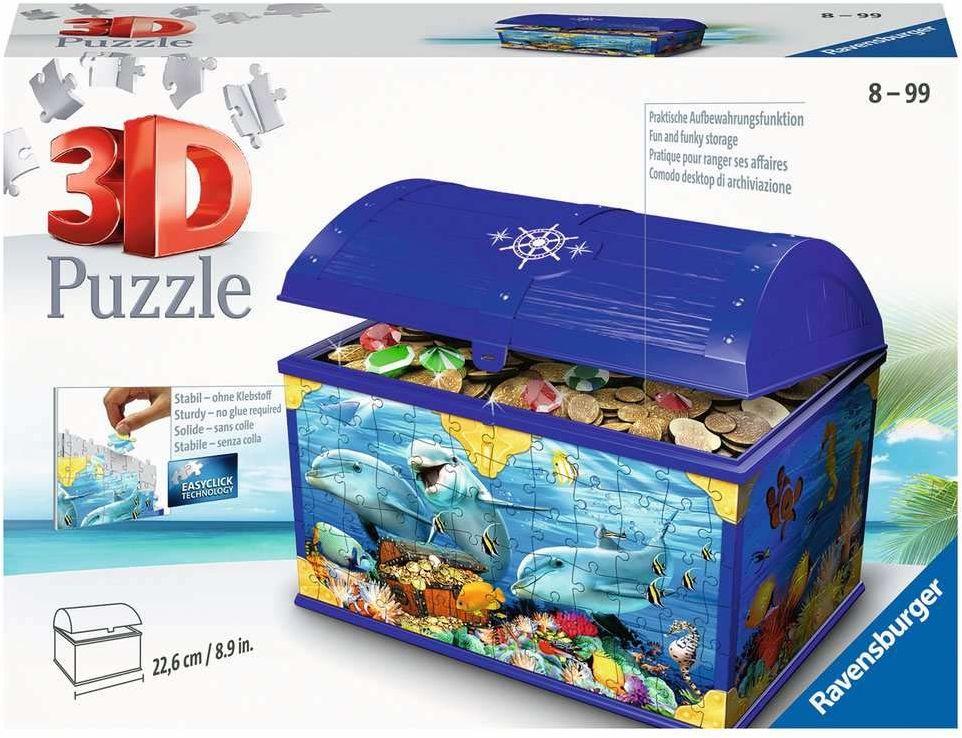 Ravensburger Puzzle 3D 11174 Ravensburger Podwodna Szkatułka 216 Elementów Puzzle 3D (11174) Dla Dzieci I Dorosłych. Technologia Easy Click - Każdy Element Pasuje Idealnie