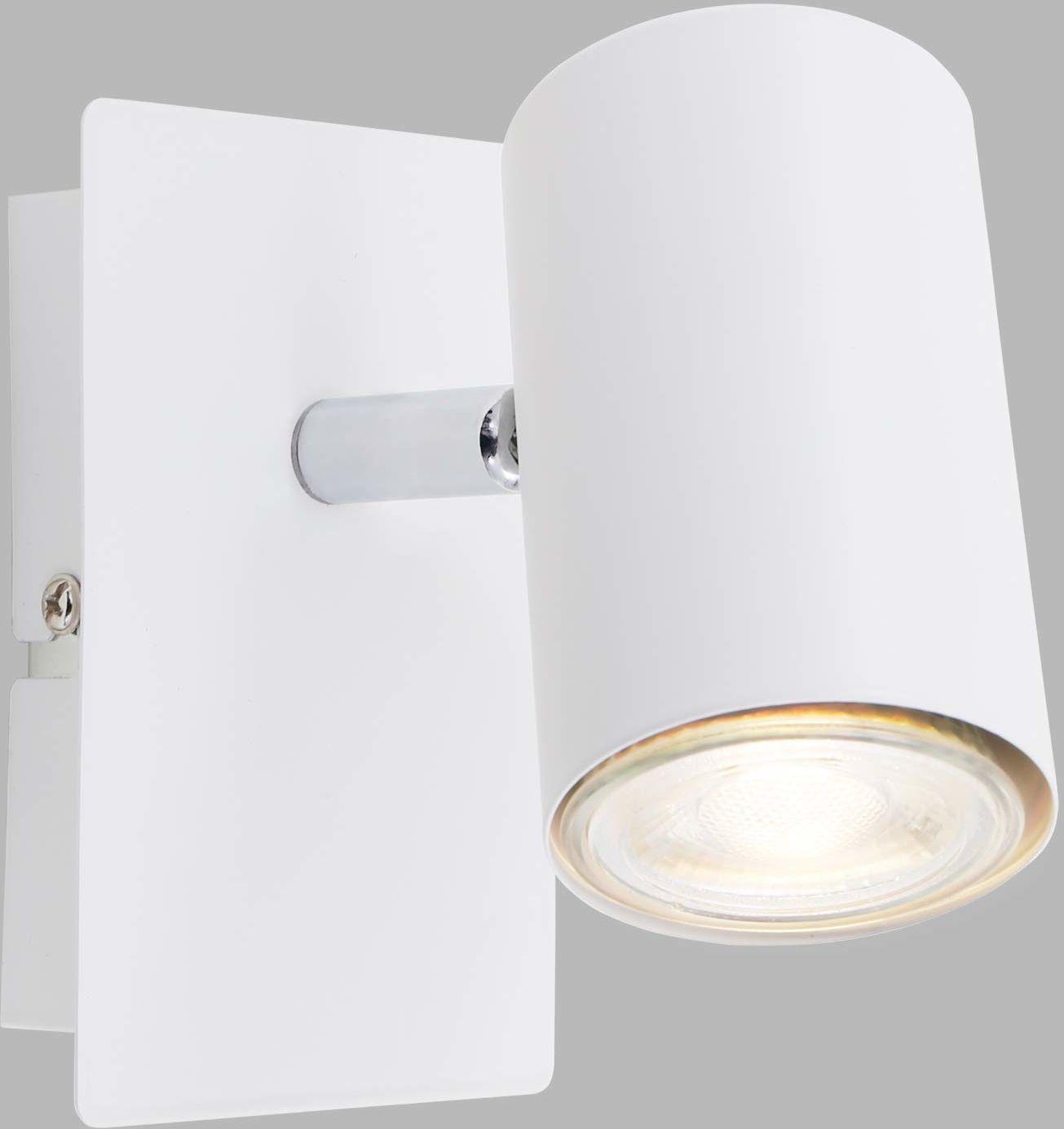 Briloner Leuchten Lampa punktowa ścienna, wychylna, punktowa 1-punktowa, GU10, maks. 40 W, biała, W