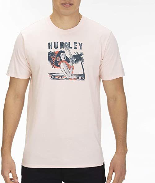 Hurley męska koszulka M Prm Tropics Del Muerte Ss Echo Pink S