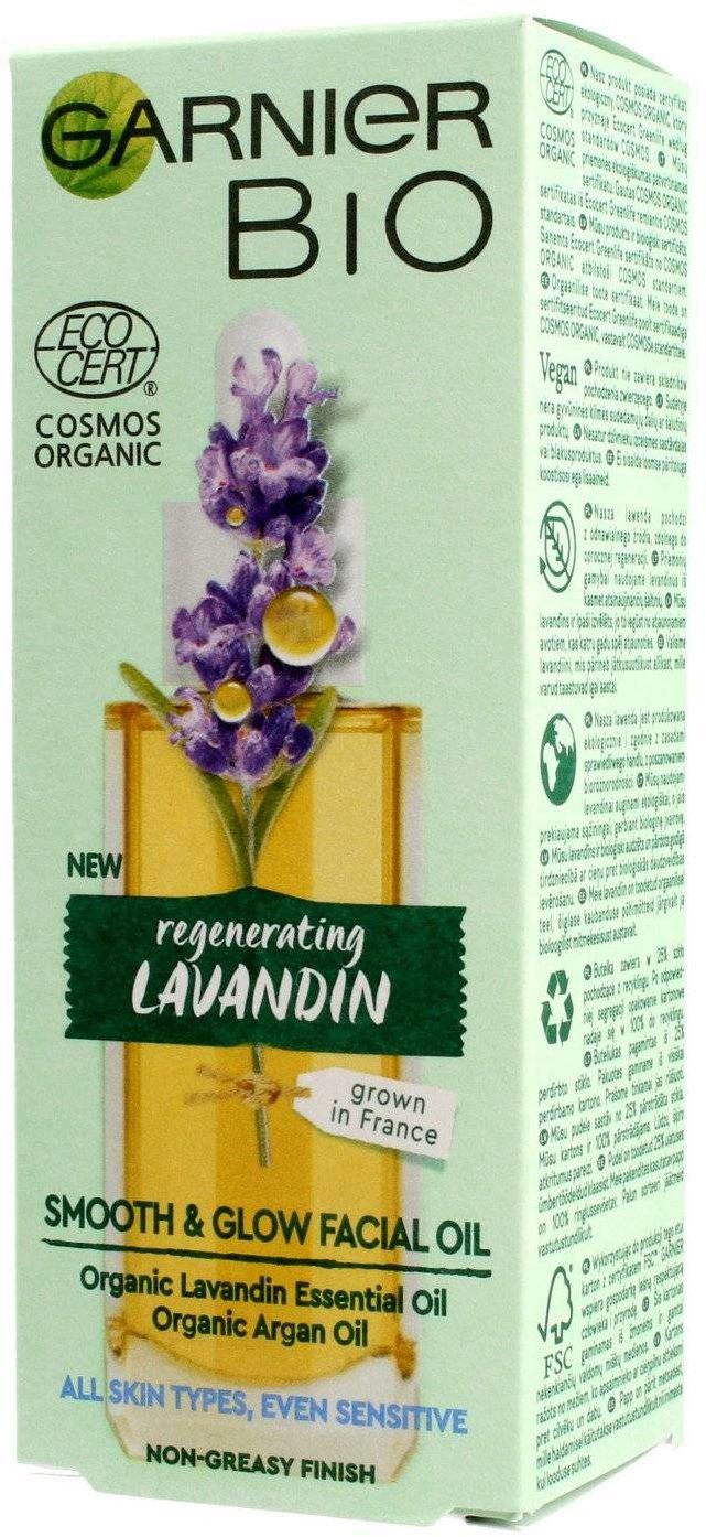 Garnier BIO Olejek wygładzający do twarzy - Regenerating Lavandin 30ml