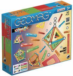 Magnetyczna zabawka konstrukcyjna Geomag Confetti, wielokolorowa, 32 sztuki, 350