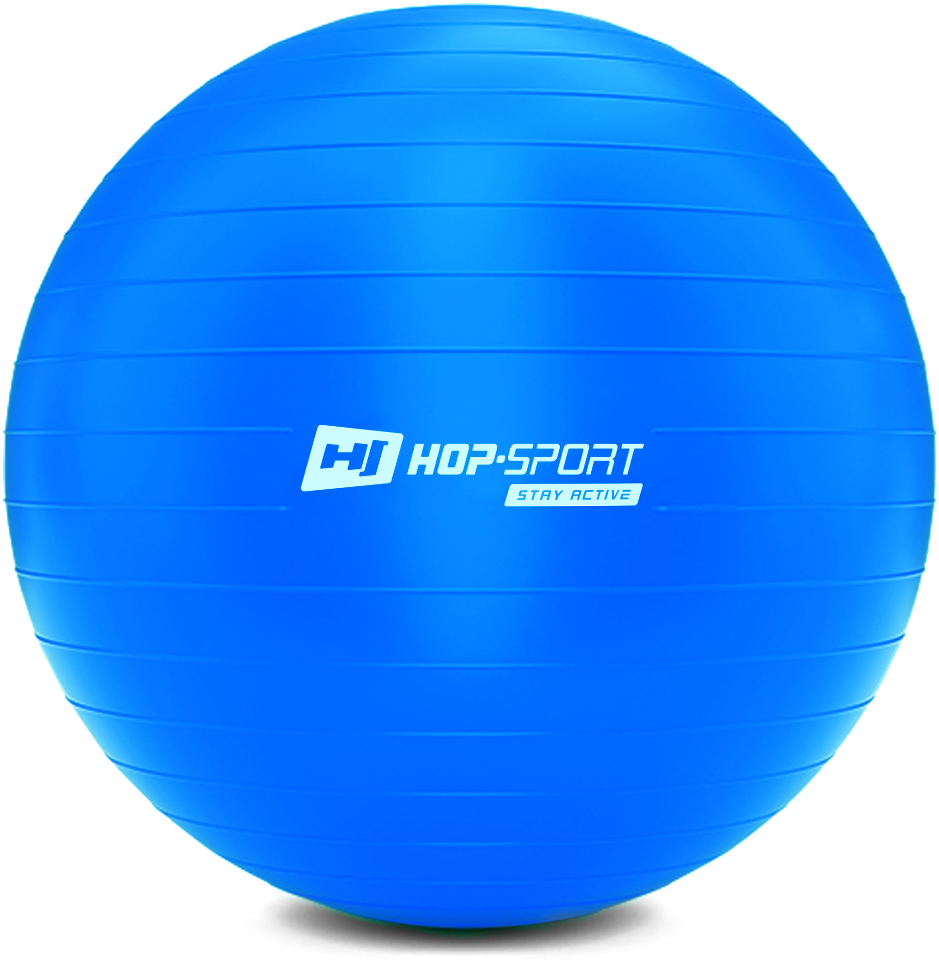 Piłka fitness 70cm z pompką - niebieska