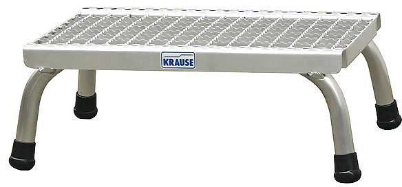schodki montażowe przemysłowe, pomost z 3 stopniami z kraty aluminowej, STABILO PROFESSIONAL KRAUSE [805331]