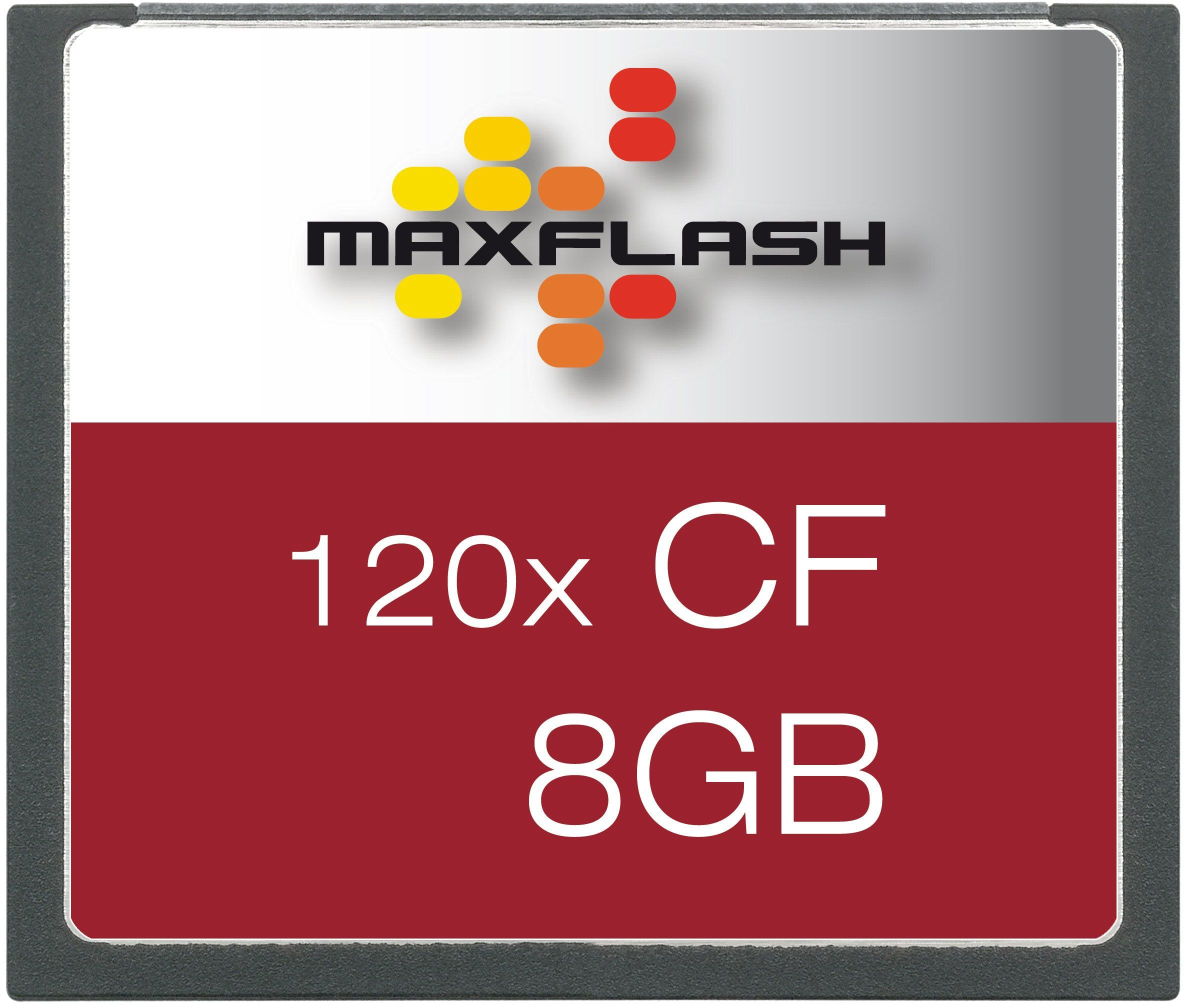 Maxflash Karta pamięci Compact Flash (CF) 8 GB (oryginalne opakowanie handlowe)