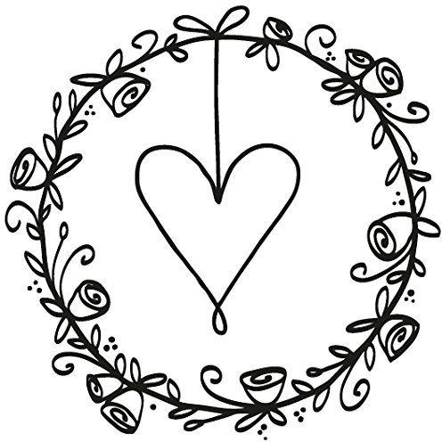 Rayher 29175000 pieczątka wieniec ślubny