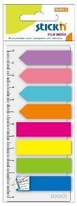 Zakładki STICK''N paski + strzałki + linijka 45 X 12 mm 8 kolorów X 25 karteczek - X06011