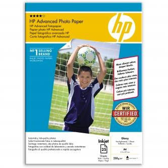 HP Q5456A Advanced Glossy Photo Paper, papier fotograficzny, błyszczący, biały, A4, 250 g/m2, 25 szt.