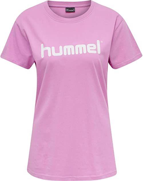 Hummel Damska koszulka Hmlgo Cotton Logo T-shirt Woman S/S Orchid S