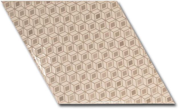 Rhombus Wall Cream Pattern 15,2x26,3
