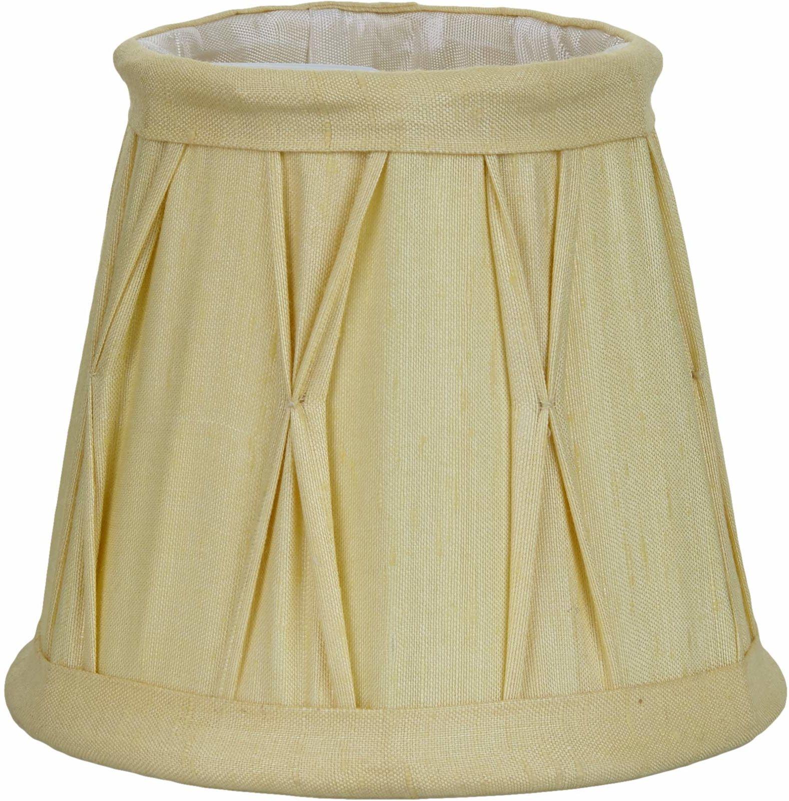 Better & Best 0212127  klosz lampy z jedwabiu, z klipsem do świec, kathedrale, 12 cm, żółty