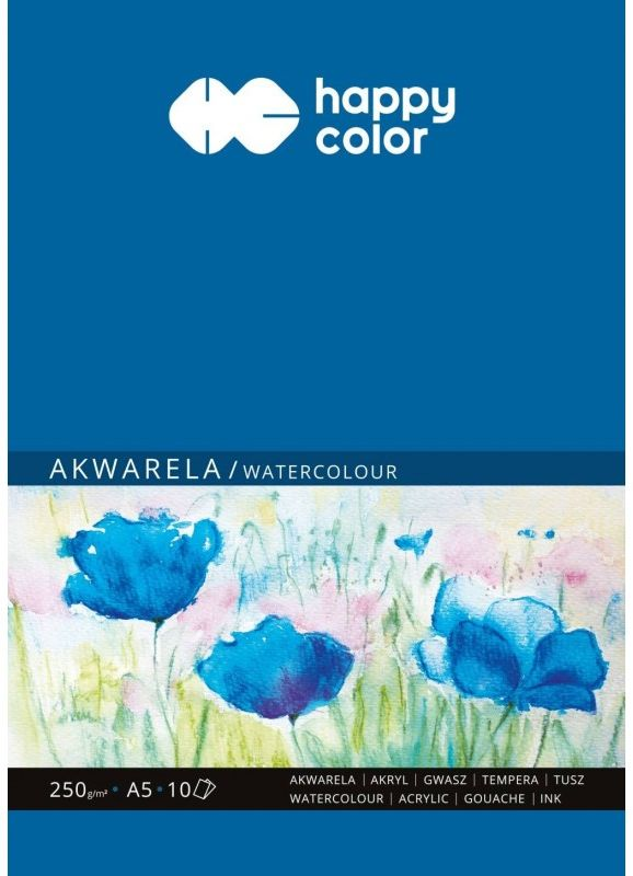 Blok Happy Color Akwarela A5 250g 10 arkuszy 7842