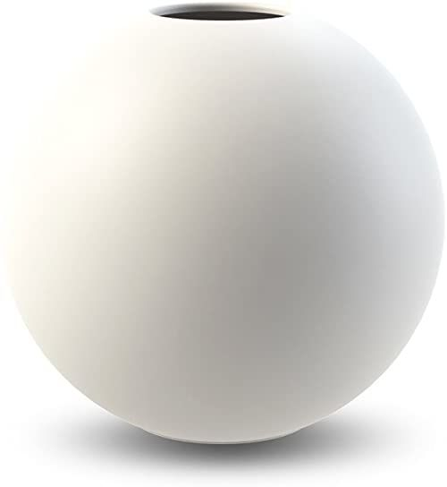 Cooee Design Ball wazon, ceramika, biała, 8 cm