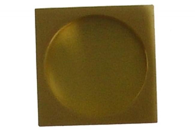 Uchwyt kwadratowy do drzwi przesuwnych wpuszczany złoty matowy