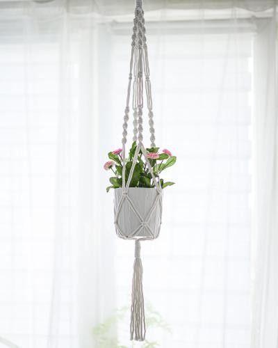 Kwietnik ze sznurka - do zawieszenia - handmade