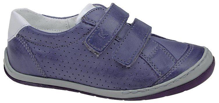 Sneakersy Półbuty KORNECKI 3637 Fioletowe Skóra Naturalna na rzepy