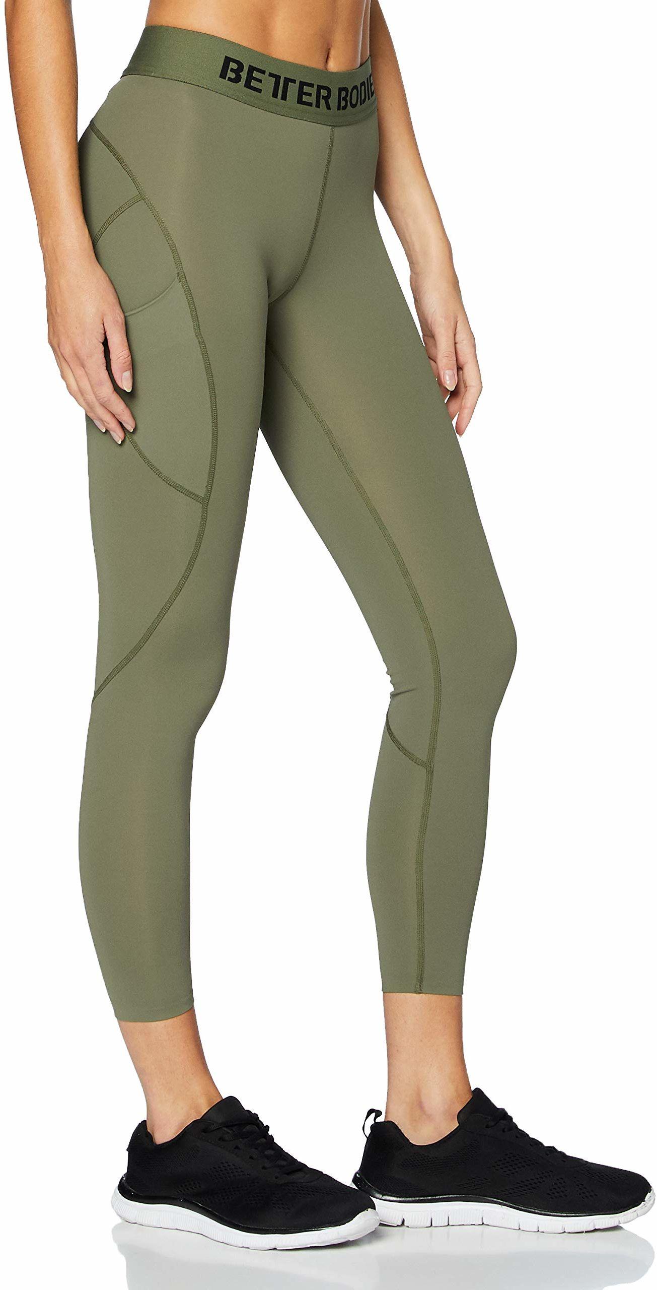 Better Bodies damskie legginsy Highbridge Tights, zielone, L