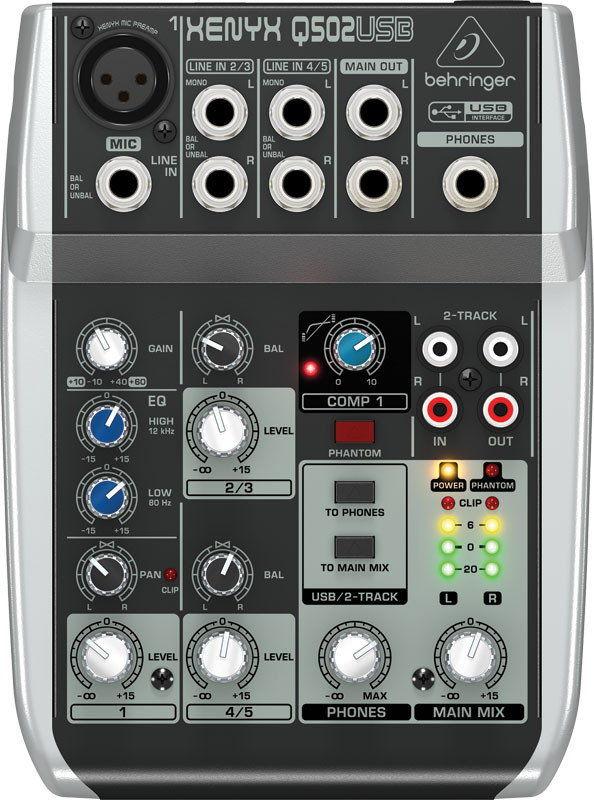 Behringer Q502USB - mikser audio z USB