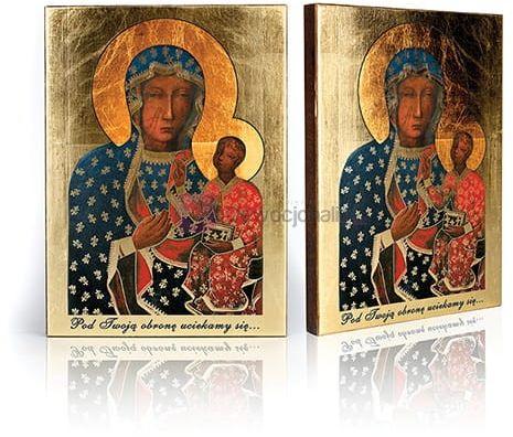 Ikona Matka Boża Częstochowska Wędrująca z certyfikatem - 17x23cm