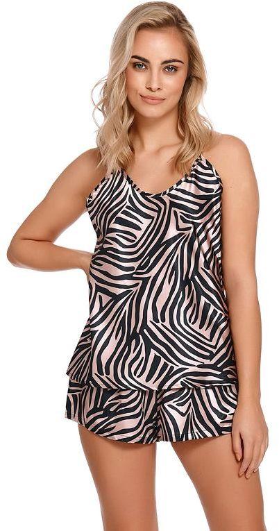 Satynowa piżama Gizela w wzór