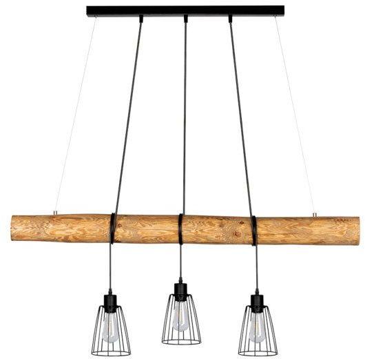 SPOTLIGHT Trabo Long nowoczesna wisząca lampa z drucianymi trzema kloszami 69204304