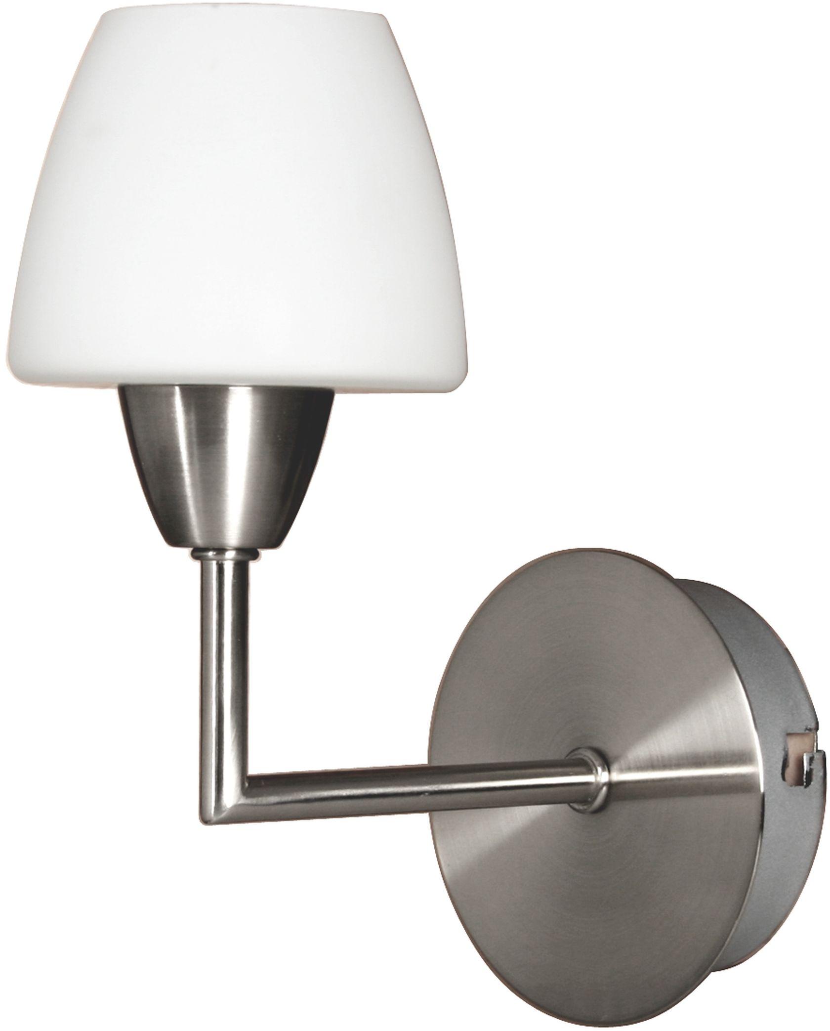 Candellux TOGO 21-10622 kinkiet lampa ścienna szklany klosz biały 1X40W G9 nikiel mat 9cm