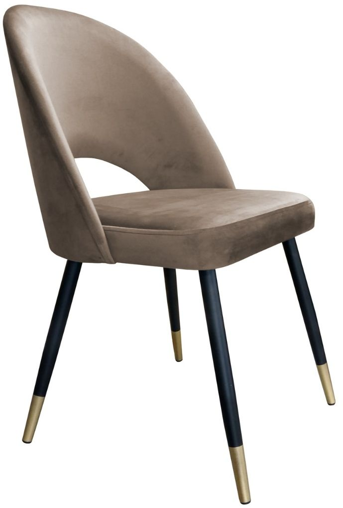 Krzesło ISKAR VELVET GOLD beżowe