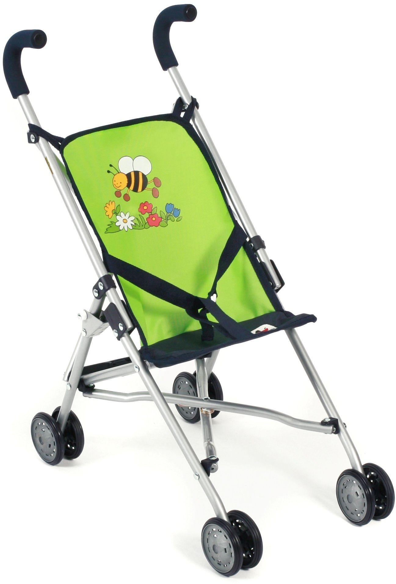 Bayer Chic 2000 601 16 - Mini-Buggy Roma, wózek dla lalek, Bumblebee, zielony