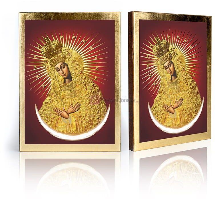 Ikona Matka Boża Ostrobramska z certyfikatem - 17x23cm