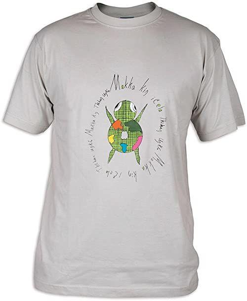 Tatonka Męski T-shirt Makha, silver grey, L, C162_734
