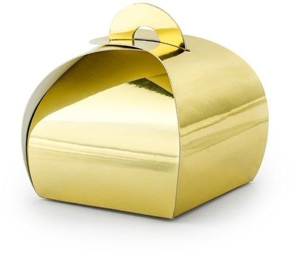 Pudełeczka dla gości Premium złote 10 sztuk PUDP23-019M