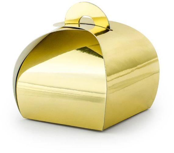 Pudełeczka Premium złote 10 szt PUDP23-019M