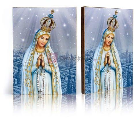 Ikona Matka Boża Fatimska z certyfikatem - 17x23cm