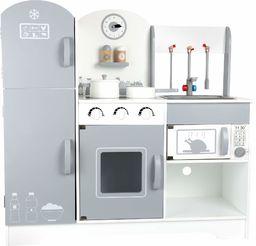 """small foot 10598 kuchnia dla dzieci """"Współczesna"""" z drewna, z lodówką, kuchenką, piekarnikiem, kuchenką mikrofalową, od 3 lat"""