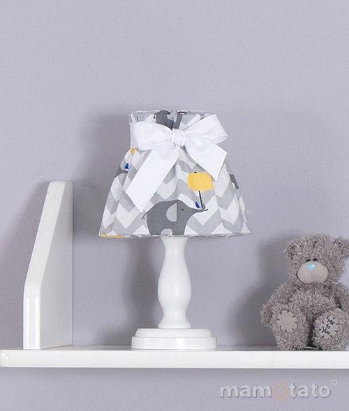 MAMO-TATO Lampka Nocna Słoń zygzak żółty