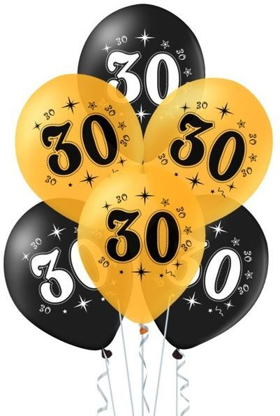 Balony na 30 urodziny 10 sztuk 400616