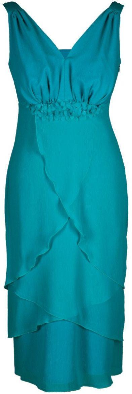 Sukienka FSU220 TURKUSOWY