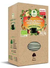 Herbatka jabłkowo-miętowa bio 25 x 2,5 g - dary natury
