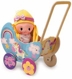 Dida GP19U pedagogiczny wózek dla lalek, wózek dziecięcy, jednorożec, mały
