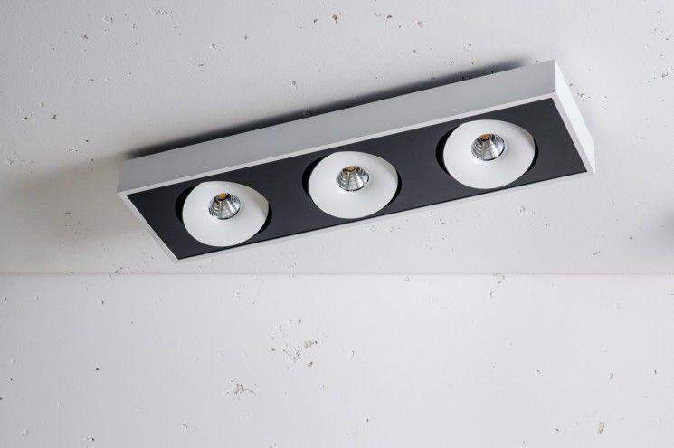 Oprawa natynkowa Lava NT X3 edge.LED 3.0727 Labra potrójna oprawa w nowoczesnym stylu