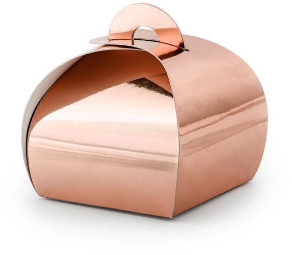 Pudełeczka dla gości Premium różowe złoto 10 sztuk PUDP23-019R
