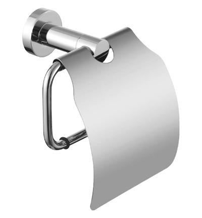Omnires Modern Project uchwyt na papier toaletowy z klapką chrom MP60520CR