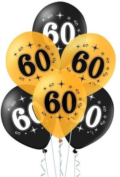 Balony na 60 urodziny 10 sztuk 400619