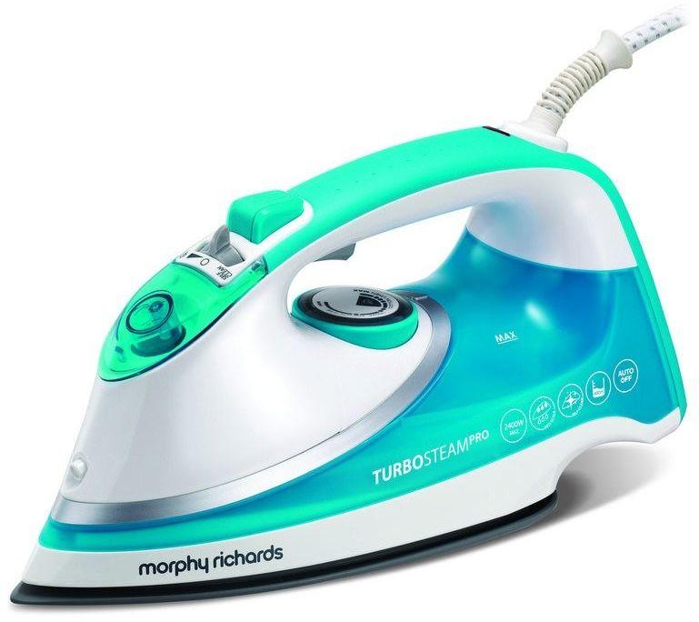 Morphy richards - żelazko turbosteam pro - niebieskie