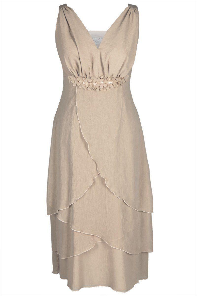 Sukienki Sukienka Suknie FSU220 BEŻOWY