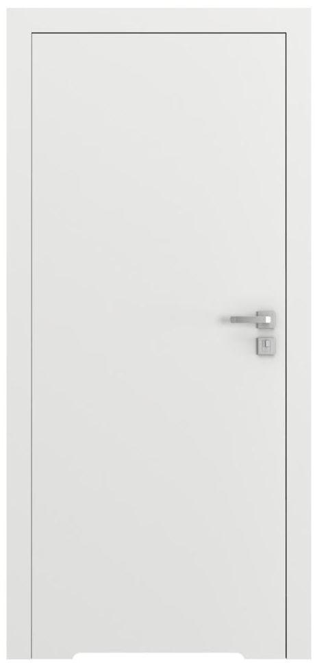 Skrzydło drzwiowe bezprzylgowe z podcięciem wentylacyjnym VECTOR T Białe 90 Lewe PORTA