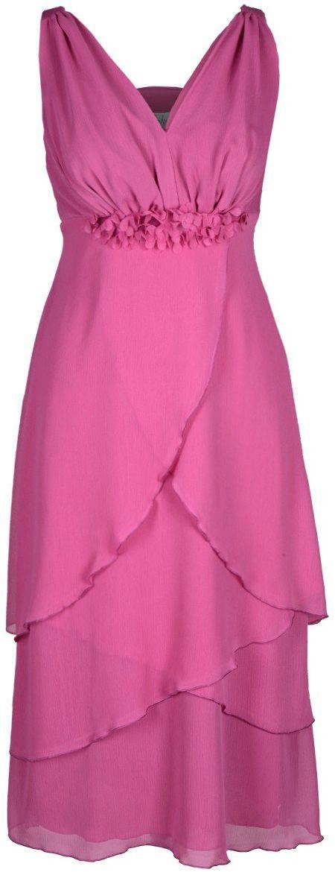 Sukienka FSU220 AMARANT ŚREDNI